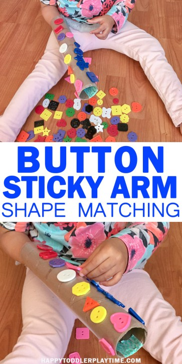 Button Shape Match toddlers and preschooler easy math activities