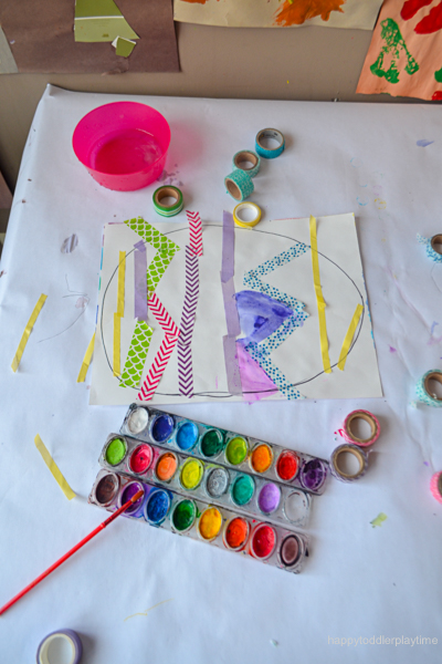 Watercolor And Washi Tape Easter Egg Craft Happy Toddler Playtime