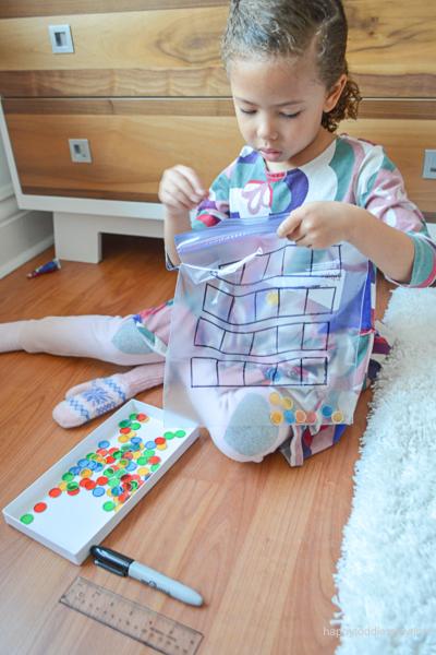 Ten-Frame Sensory Bag for Preschoolers & Kindergartners