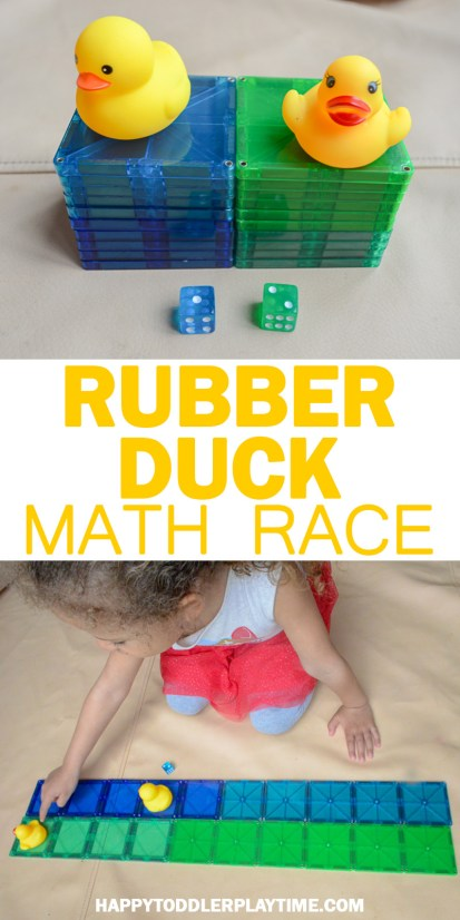 Rubber duck race easy math activities for toddlers and preschoolers