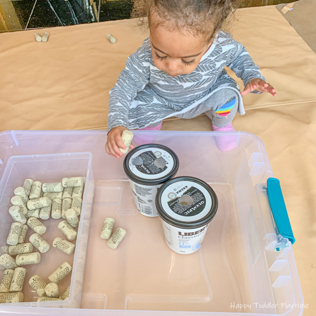 Fine motor toddler activity