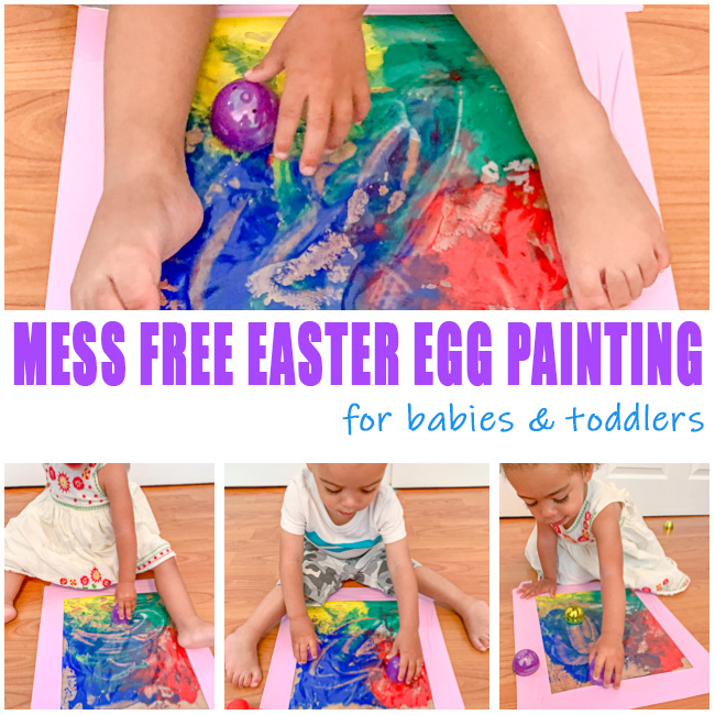 Mess Free activity for babies and toddlers