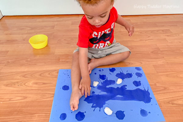 Painting with water for toddlers