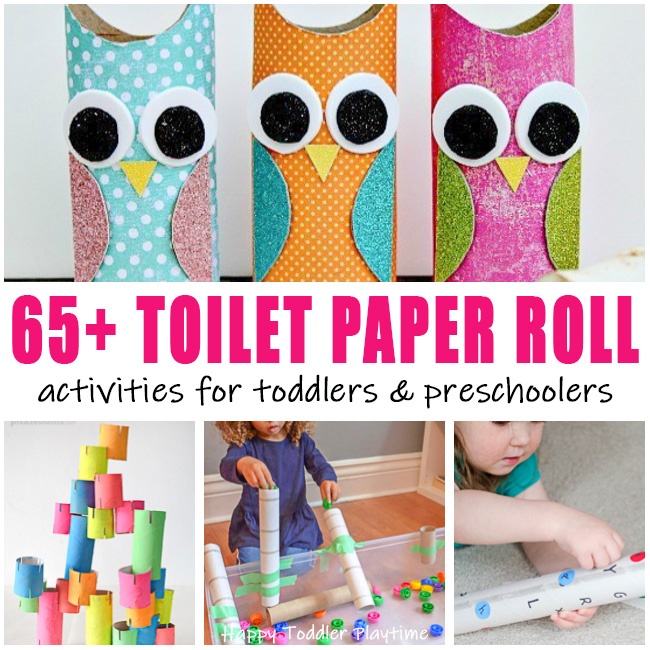 65 toilet paper roll activities and crafts for toddlers and preschoolers