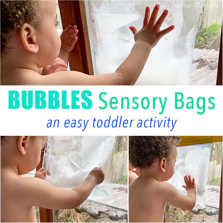 bubbles sensory bag for babies and toddlers