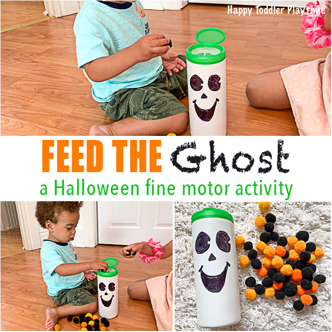 feed the ghost fine motor Halloween Activity