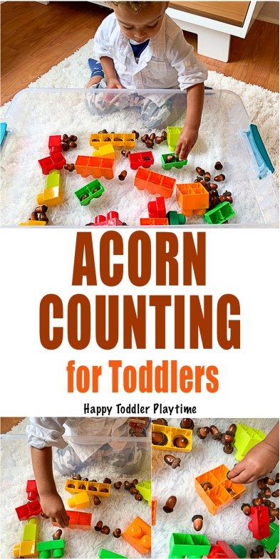 ACORN COUNTING for Toddlers fall activity