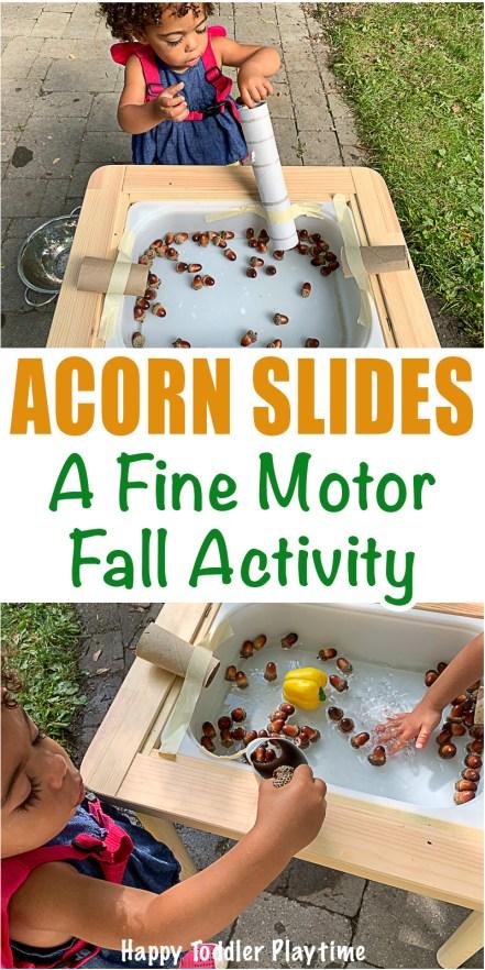 Acorn slides fine motor fall activity