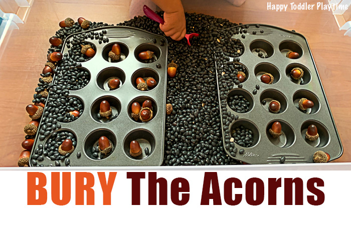 BURY The Acorns fall activity for toddlers
