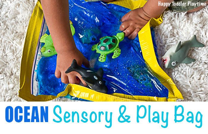 Ocean sensory and play bag idea for toddlers