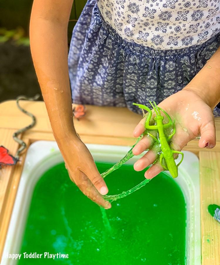 easy to make slime sensory bin