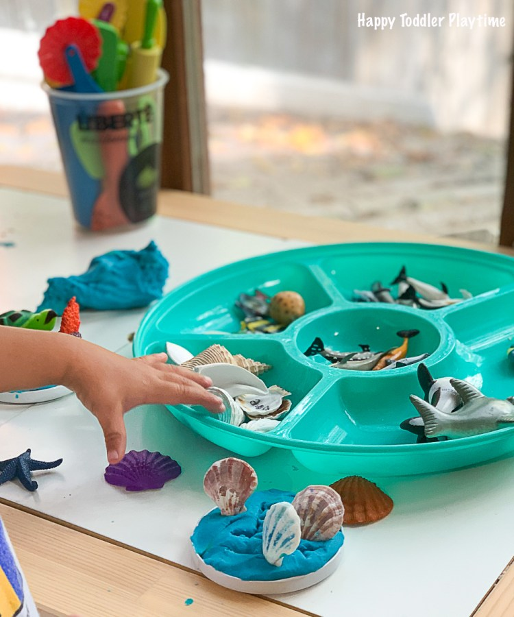 playdoh under the sea activity for toddlers and preschoolers and kindergarteners