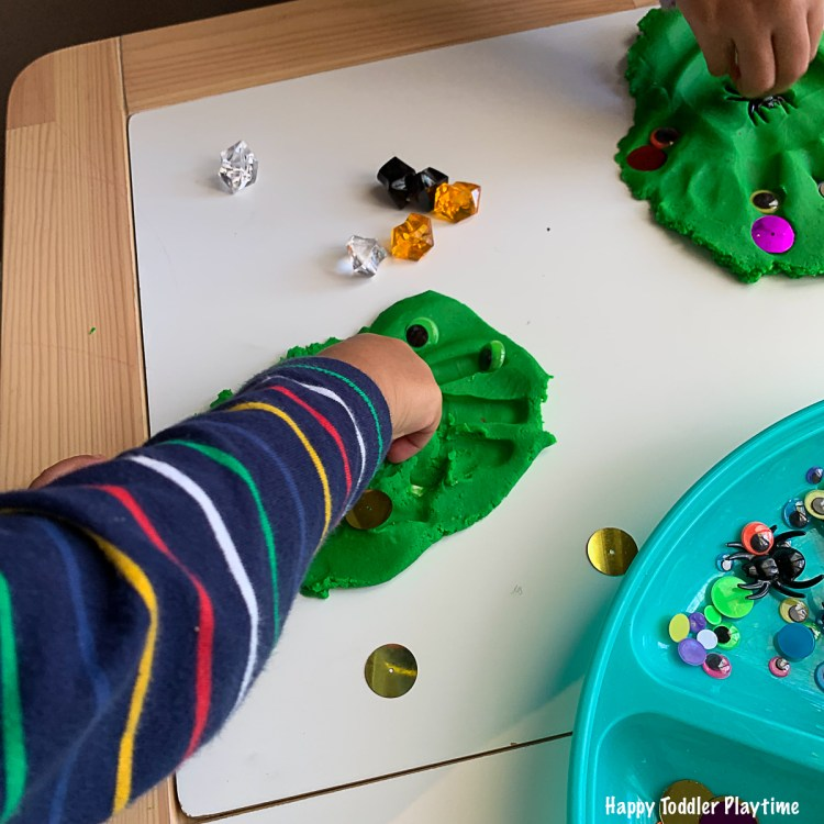 play dough monster hands toddlers and preschoolers