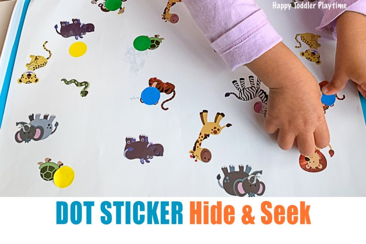 Dot sticker hide and seek toddler and preschooler activity