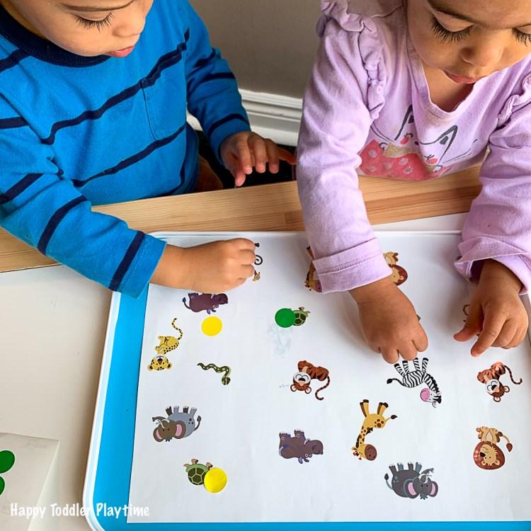 DOT STICKER HIDE & SEEK a fun & easy toddler activity