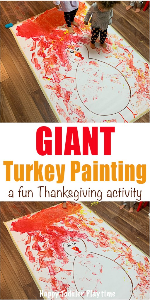 Giant Turkey thanksgiving craft for kids