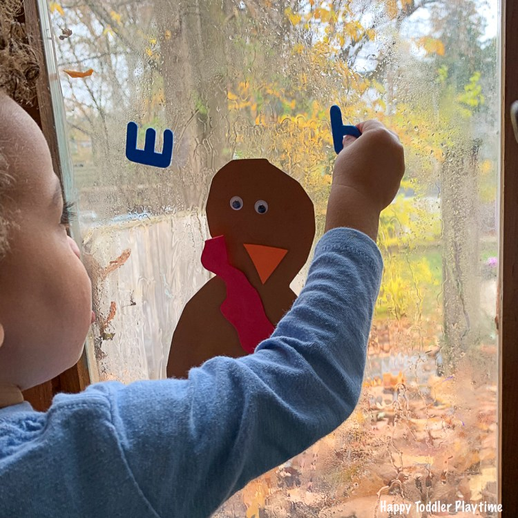Alphabet Turkey Activity for toddlers and preschoolers