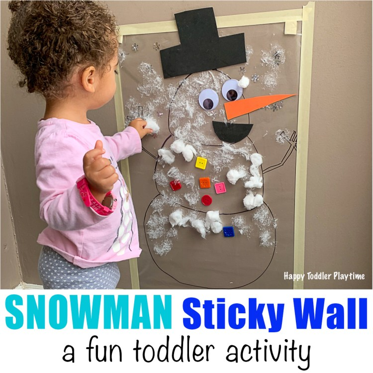 winter sticky wall called snowman sticky wall