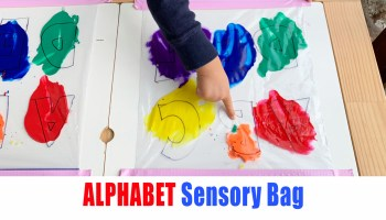 Alphabet sensory learning bag for babies and toddlers