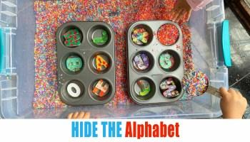 Hide the Alphabet toddler activity
