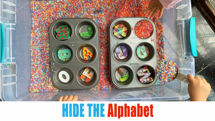 Hide the Alphabet toddler activity