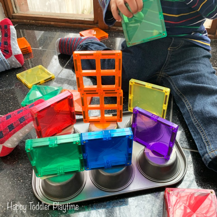 Muffin Tin Colour Sorting for toddlers and preschoolers