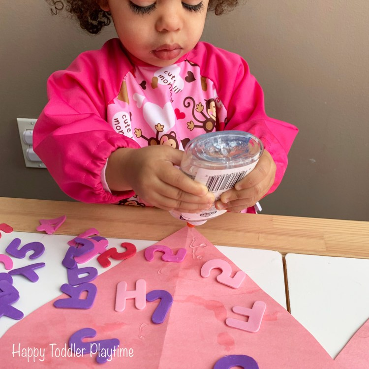 Valentines Day fine motor activity for toddlers
