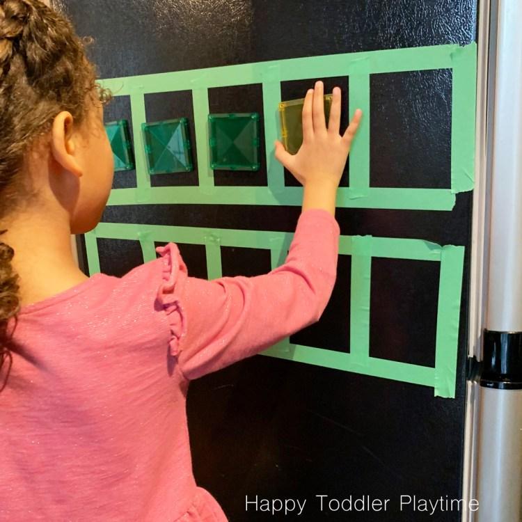 ten-frame game for kindergartners