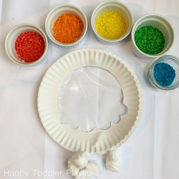 Rainbow Sun Catcher Craft for toddlers and preschoolers