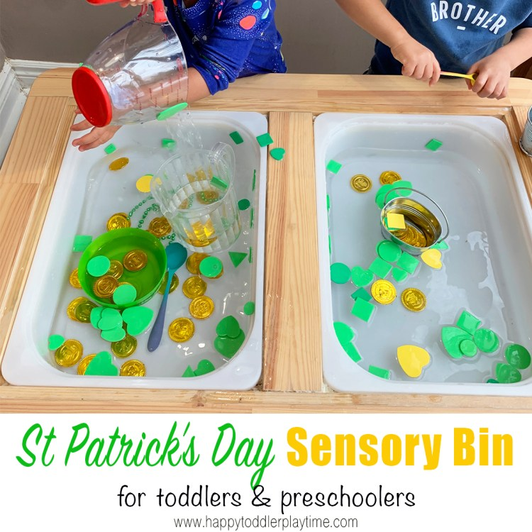 st patricks day sensory activity for toddlers and preschoolers
