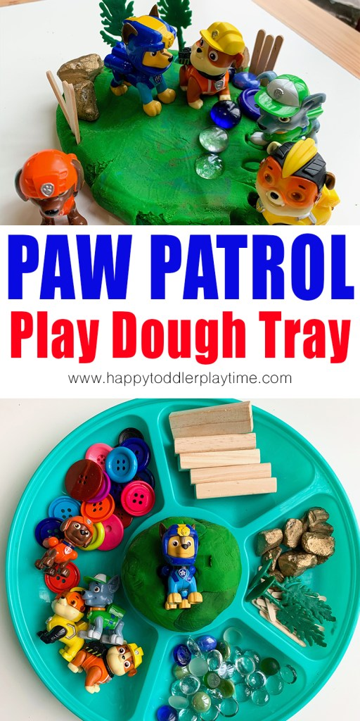 paw patrol play dough tray for kids