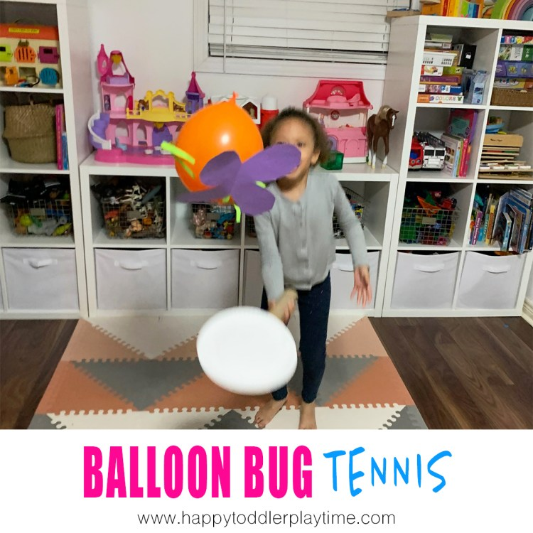 balloon tennis gross motor activity