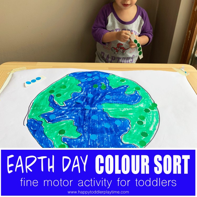 earth day colour sort with dot stickers