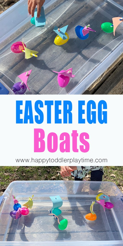 Easter egg sail boat craft