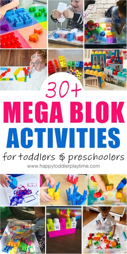 mega blok activities for toddlers and preschoolers