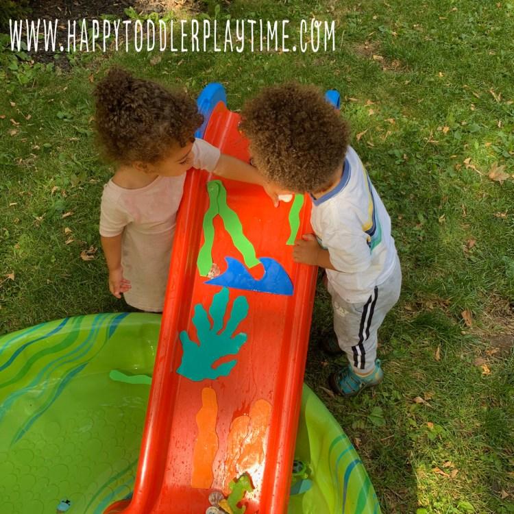 ocean water slide outdoor toddler activity