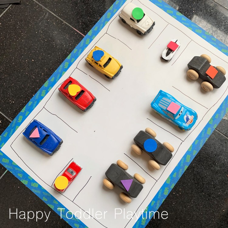 shapes parking lot for toddlers and preschoolers