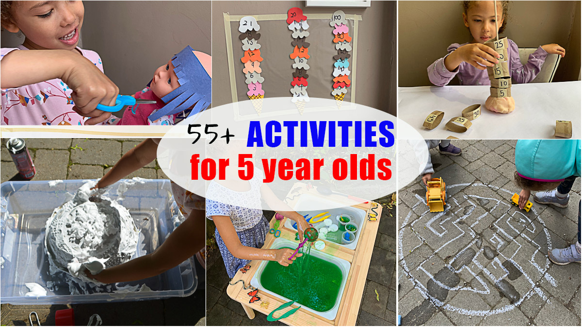 55+ Easy Activities for 5 Year Olds