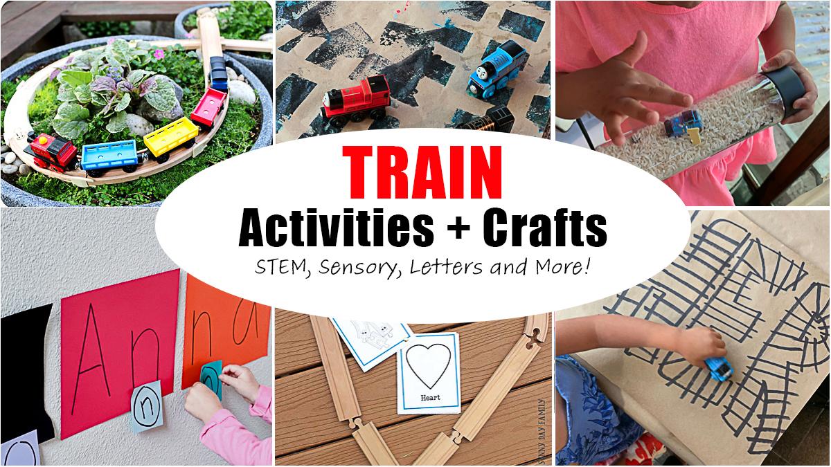 50+ Train Activities & Crafts