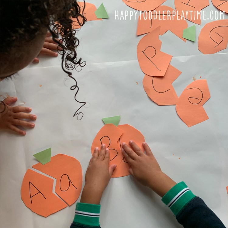 pumpking letter puzzles