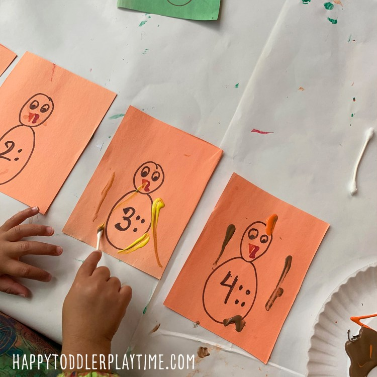 turkey feather trace thanksgiving activity for toddlers and preschoolers