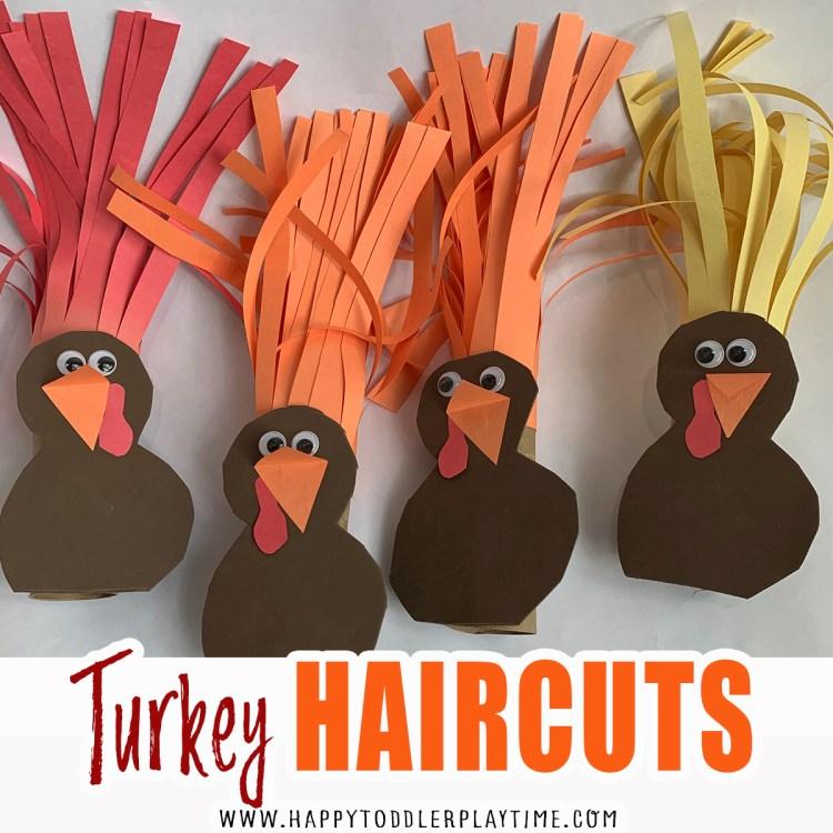 Turkey haircuts thanksgiving kids activity