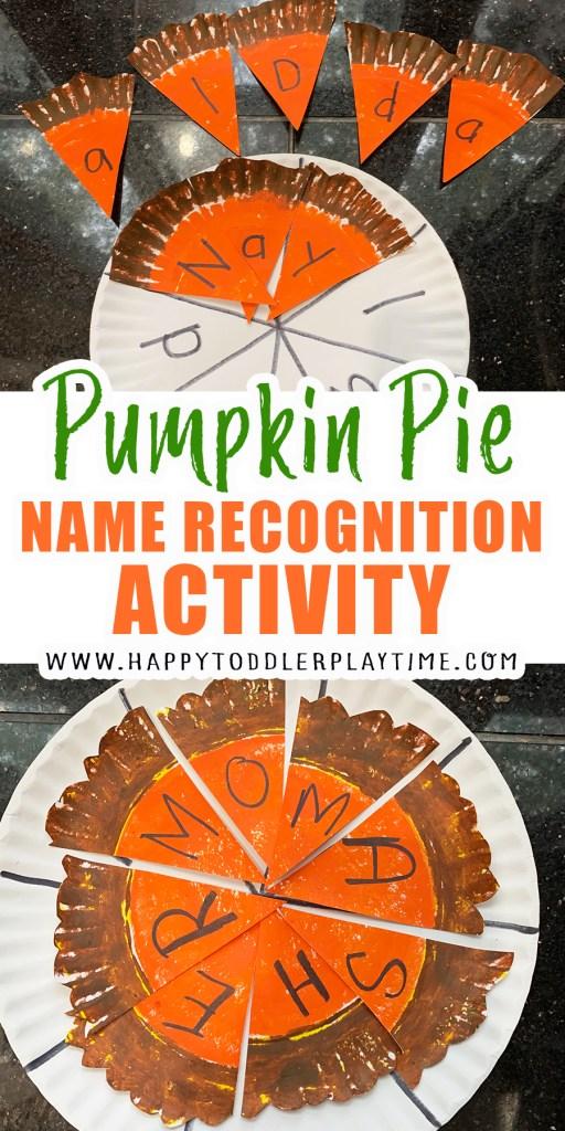 Pumpkin Pie name recognition activity