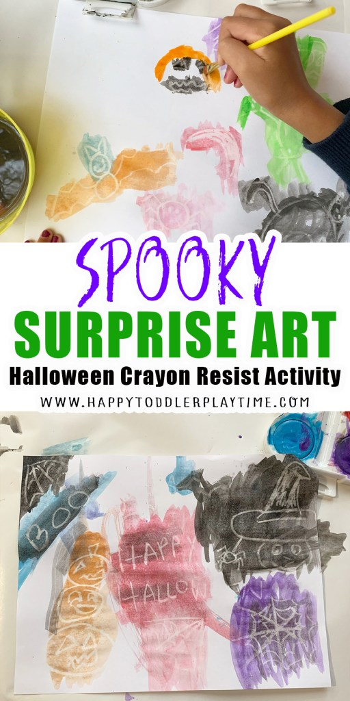 SPOOKY SURPRISE ART: HALLOWEEN CRAYON RESIST