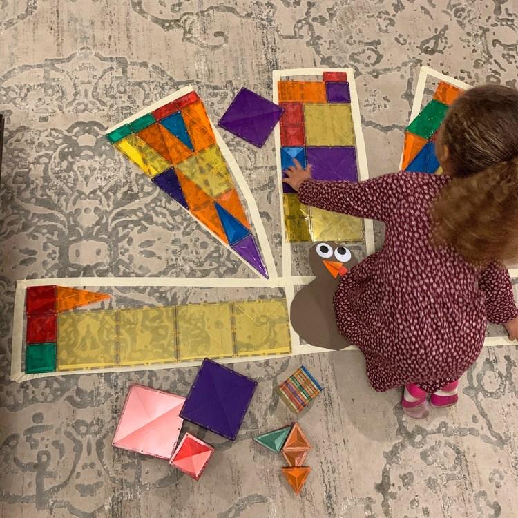 Magnetic Tile Turkey Puzzles