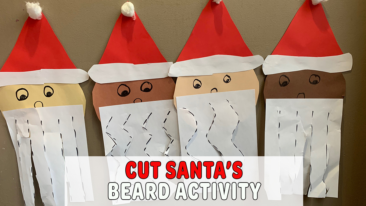 Cut Santa's Beard Fine Motor Activity