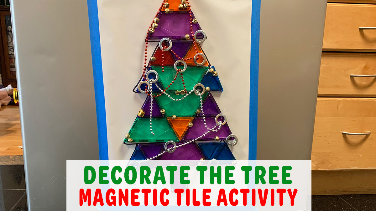 Decorate the Magnetic Tile Christmas Tree