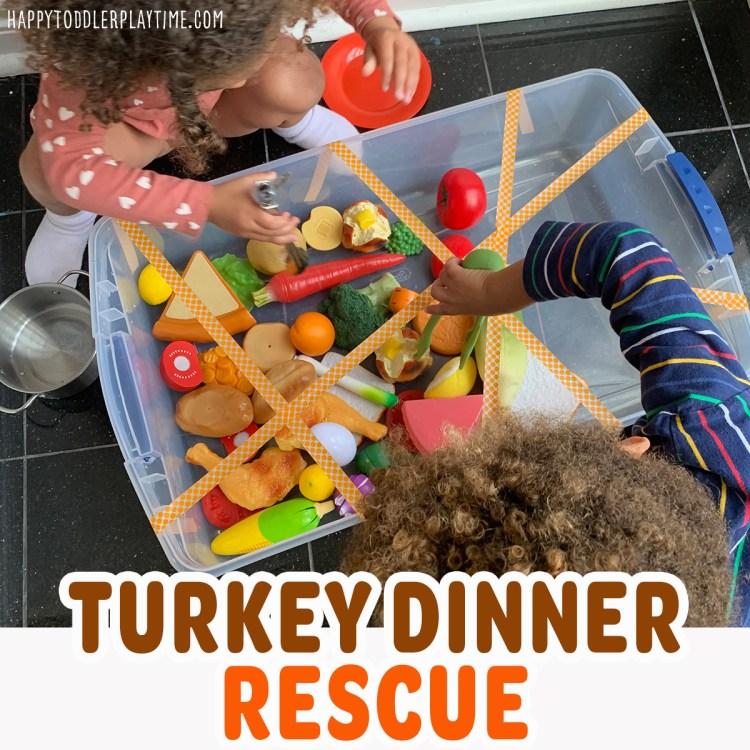 Turkey Dinner Rescue Sensory Bin