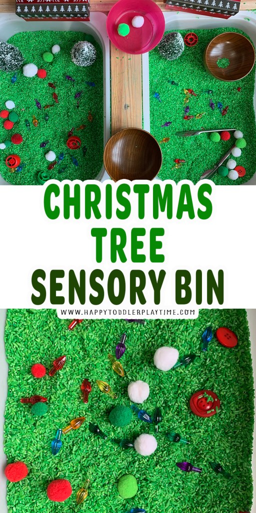 Easy Christmas Tree Sensory Bin