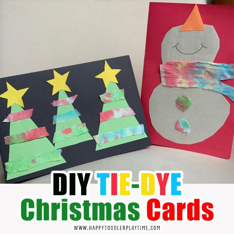 25 DIY Homemade Christmas Cards Kids Can Make
